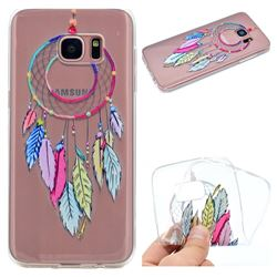 Rainbow Campanula Super Clear Soft TPU Back Cover for Samsung Galaxy S6 Edge G925