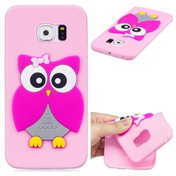 Pink Owl Soft 3D Silicone Case for Samsung Galaxy S6 Edge G925