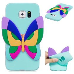 Rainbow Butterfly Soft 3D Silicone Case for Samsung Galaxy S6 Edge G925