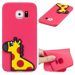 Yellow Giraffe Soft 3D Silicone Case for Samsung Galaxy S6 Edge G925