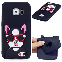 Glasses Gog Soft 3D Silicone Case for Samsung Galaxy S6 Edge G925