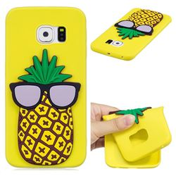 Pineapple Soft 3D Silicone Case for Samsung Galaxy S6 Edge G925