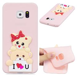Love Bear Soft 3D Silicone Case for Samsung Galaxy S6 Edge G925