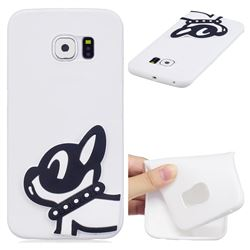 Cute Dog Soft 3D Silicone Case for Samsung Galaxy S6 Edge G925