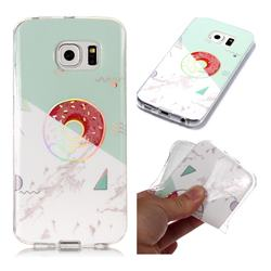 Donuts Marble Pattern Bright Color Laser Soft TPU Case for Samsung Galaxy S6 Edge G925