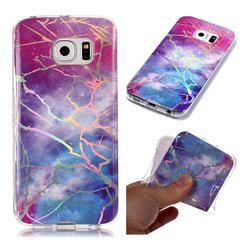 Dream Sky Marble Pattern Bright Color Laser Soft TPU Case for Samsung Galaxy S6 Edge G925