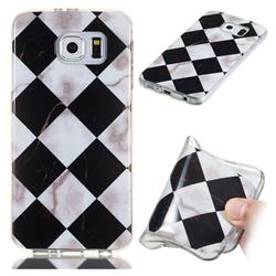 Black and White Matching Soft TPU Marble Pattern Phone Case for Samsung Galaxy S6 Edge G925