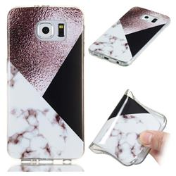 Black white Grey Soft TPU Marble Pattern Phone Case for Samsung Galaxy S6 Edge G925