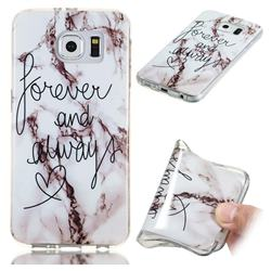 Forever Soft TPU Marble Pattern Phone Case for Samsung Galaxy S6 Edge G925