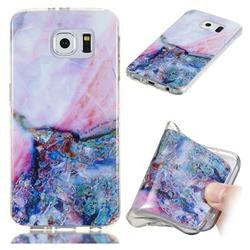 Purple Amber Soft TPU Marble Pattern Phone Case for Samsung Galaxy S6 Edge G925