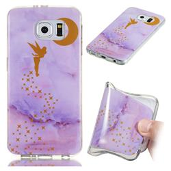 Elf Purple Soft TPU Marble Pattern Phone Case for Samsung Galaxy S6 Edge G925