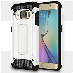 King Kong Armor Premium Shockproof Dual Layer Rugged Hard Cover for Samsung Galaxy S6 Edge G925 - White