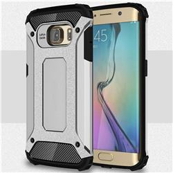 King Kong Armor Premium Shockproof Dual Layer Rugged Hard Cover for Samsung Galaxy S6 Edge G925 - Technology Silver
