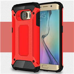 King Kong Armor Premium Shockproof Dual Layer Rugged Hard Cover for Samsung Galaxy S6 Edge G925 - Big Red