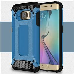 King Kong Armor Premium Shockproof Dual Layer Rugged Hard Cover for Samsung Galaxy S6 Edge G925 - Sky Blue