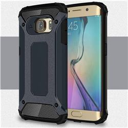 King Kong Armor Premium Shockproof Dual Layer Rugged Hard Cover for Samsung Galaxy S6 Edge G925 - Navy