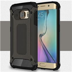 King Kong Armor Premium Shockproof Dual Layer Rugged Hard Cover for Samsung Galaxy S6 Edge G925 - Bronze