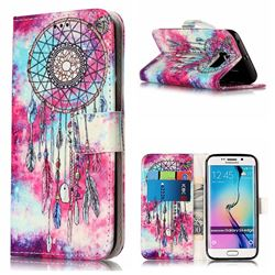 Butterfly Chimes PU Leather Wallet Case for Samsung Galaxy S6 Edge G925