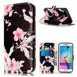 Azalea Flower PU Leather Wallet Case for Samsung Galaxy S6 Edge G925