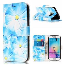 Orchid Flower PU Leather Wallet Case for Samsung Galaxy S6 Edge G925