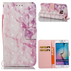 Pink Marble 3D Painted Leather Wallet Case for Samsung Galaxy S6 Edge G925