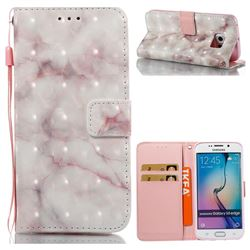 Beige Marble 3D Painted Leather Wallet Case for Samsung Galaxy S6 Edge G925