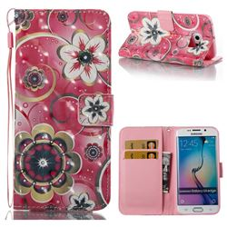 Tulip Flower 3D Painted Leather Wallet Case for Samsung Galaxy S6 Edge G925