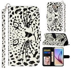 Leopard Panther 3D Leather Phone Holster Wallet Case for Samsung Galaxy S6 Edge G925