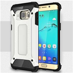 King Kong Armor Premium Shockproof Dual Layer Rugged Hard Cover for Samsung Galaxy S6 Edge Plus Edge+ G928 - White