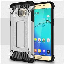 King Kong Armor Premium Shockproof Dual Layer Rugged Hard Cover for Samsung Galaxy S6 Edge Plus Edge+ G928 - Technology Silver