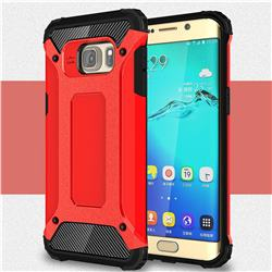 King Kong Armor Premium Shockproof Dual Layer Rugged Hard Cover for Samsung Galaxy S6 Edge Plus Edge+ G928 - Big Red