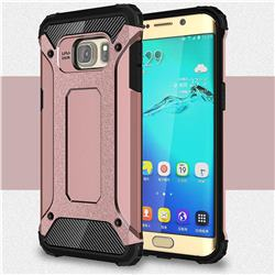 King Kong Armor Premium Shockproof Dual Layer Rugged Hard Cover for Samsung Galaxy S6 Edge Plus Edge+ G928 - Rose Gold