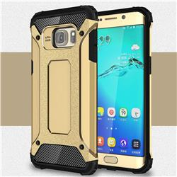 King Kong Armor Premium Shockproof Dual Layer Rugged Hard Cover for Samsung Galaxy S6 Edge Plus Edge+ G928 - Champagne Gold