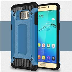 King Kong Armor Premium Shockproof Dual Layer Rugged Hard Cover for Samsung Galaxy S6 Edge Plus Edge+ G928 - Sky Blue
