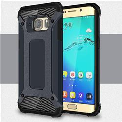 King Kong Armor Premium Shockproof Dual Layer Rugged Hard Cover for Samsung Galaxy S6 Edge Plus Edge+ G928 - Navy