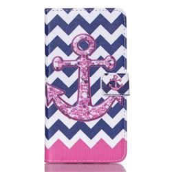 Anchor Chevron Leather Wallet Case for Samsung Galaxy S6 Edge Plus G928 G928P G928A