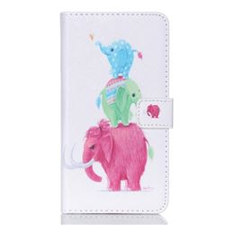 Family Elephants Leather Wallet Case for Samsung Galaxy S6 Edge Plus G928 G928P G928A