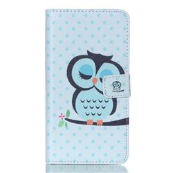 Sweet Owl Leather Wallet Case for Samsung Galaxy S6 Edge Plus G928 G928P G928A