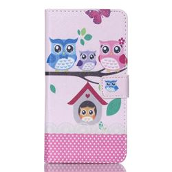 Family Owls Leather Wallet Case for Samsung Galaxy S6 Edge Plus G928 G928P G928A