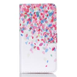 Colored Petals Leather Wallet Case for Samsung Galaxy S6 Edge Plus G928 G928P G928A