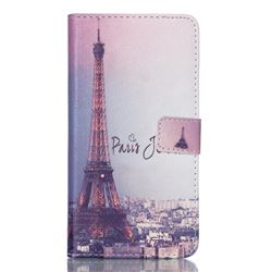 Fog Eiffel Tower Leather Wallet Case for Samsung Galaxy S6 Edge Plus G928 G928P G928A