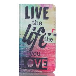 Live the Life Leather Wallet Case for Samsung Galaxy S6 Edge Plus G928 G928P G928A