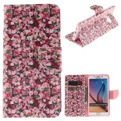 Intensive Floral PU Leather Wallet Case for Samsung Galaxy S6 Edge Plus Edge+ G928