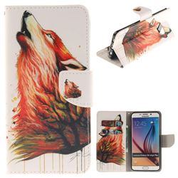 Color Wolf PU Leather Wallet Case for Samsung Galaxy S6 Edge Plus Edge+ G928