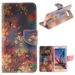 Colored Flowers PU Leather Wallet Case for Samsung Galaxy S6 Edge Plus Edge+ G928