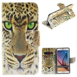Yellow Tiger PU Leather Wallet Case for Samsung Galaxy S6 Edge Plus Edge+ G928