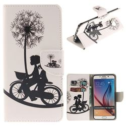 Cycling Dandelion PU Leather Wallet Case for Samsung Galaxy S6 Edge Plus Edge+ G928