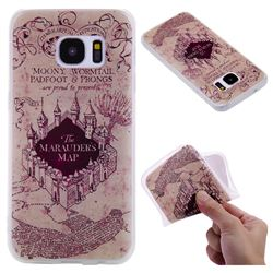 Castle The Marauders Map 3D Relief Matte Soft TPU Back Cover for Samsung Galaxy S7 G930