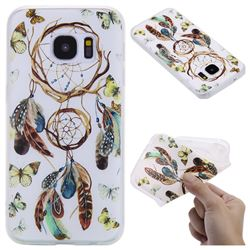 Color Wind Chimes 3D Relief Matte Soft TPU Back Cover for Samsung Galaxy S7 G930