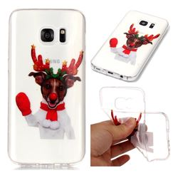 Red Gloves Elk Super Clear Soft TPU Back Cover for Samsung Galaxy S7 G930